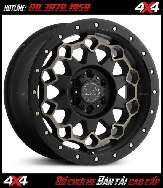 Mâm độ cho Ford Ranger Black Rhino Diamante 18×9 ET-12 kim cương