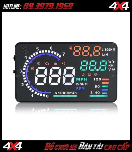 Thiết bị hiển thị tốc độ trên kính lái HUD A8 dành cho xe hơi