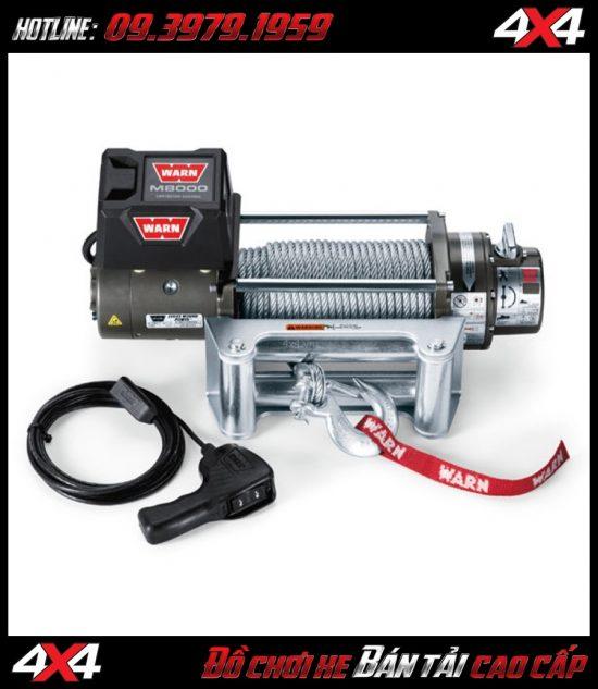 Tời điện gắn xe bán tải Warn M8000 công suất 3 Tấn cực mạnh