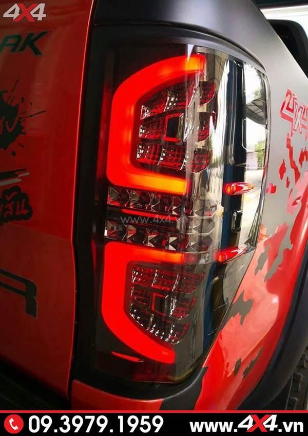 Độ đèn Ford Ranger: Đèn hậu kiểu Thái Lan chữ C đẹp và chất