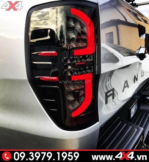 Độ đèn Ford Ranger: Đèn hậu độ kiểu chữ C đẹp và đẳng cấp