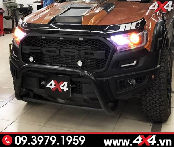Độ đèn Ford Ranger: Đèn L4x trợ sáng và độ đẹp cho xe bán tải