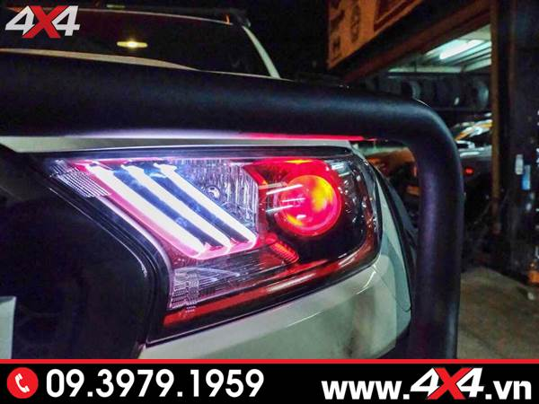 Độ đèn Ford Ranger: Mẫu đèn trước kiểu Ford Mustang đẹp và bắt mắt