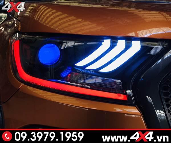 Độ đèn Ford Ranger: Đèn trước Ford Mustang 5D đẹp và nổi bật cho xe bán tải