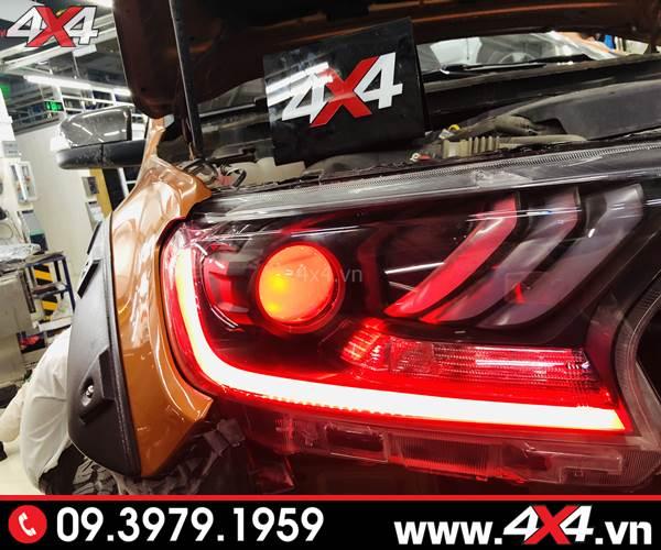 Độ đèn Ford Ranger: Đèn mắt quỷ kiểu Ford Mustang đẹp và ngầu