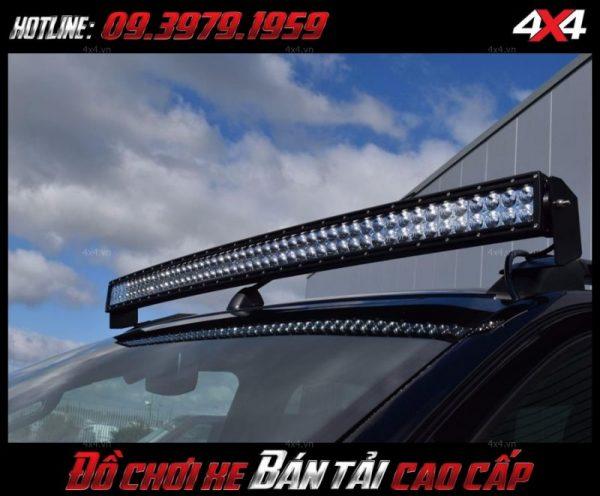 Hình ảnh độ đèn xe bán tải, độ đèn Ford Ranger: Đèn led bar 10 đẹp và chất lượng độ xe bán tải ở HCM