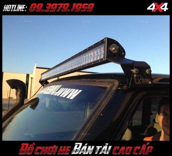 Đèn led bar 10D độ đẹp và chất cho xe ô tô xe bán tải