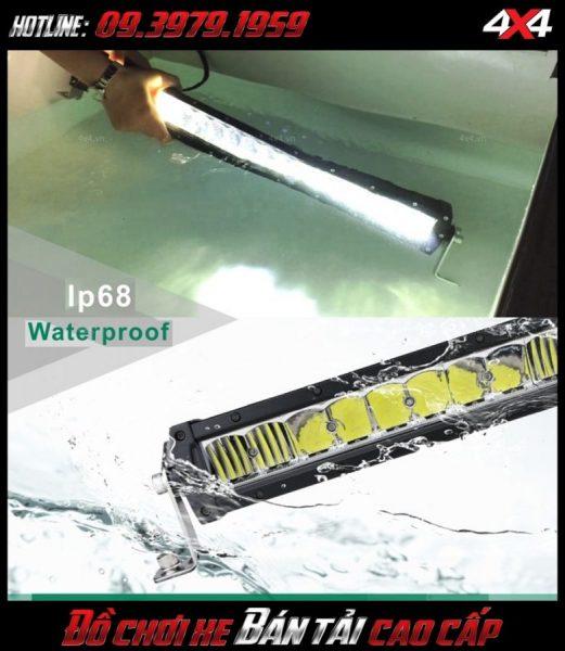 Độ đèn Ford Ranger, độ đèn xe bán tải: Đèn led bar lúp vòm chống vào nước chuẩn IP68