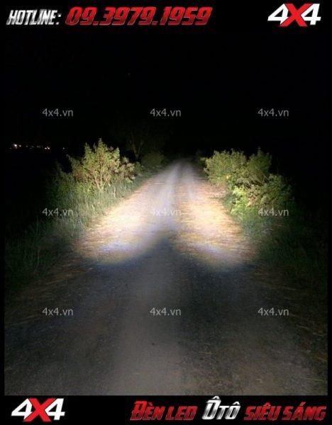 Đèn led trợ sáng ô tô L4x rất sáng dành cho các xe bán tải đi đêm