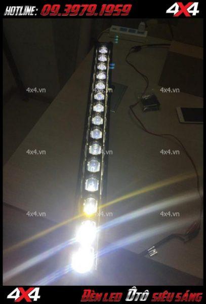 Ánh sáng của đèn led bar 6D lúp lớn
