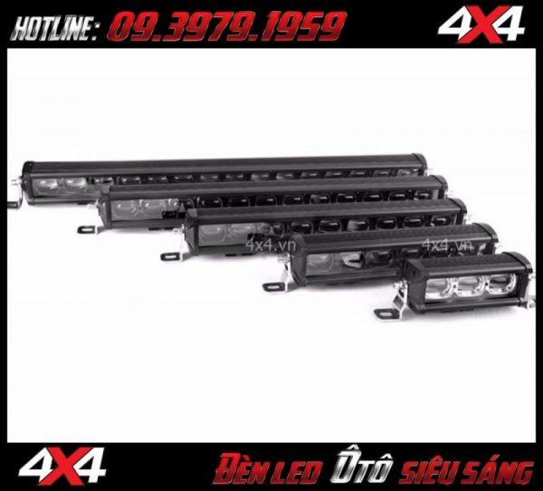 Hình ảnh đèn led bar 6D lúp lớn với nhiều kích cỡ khác nhau