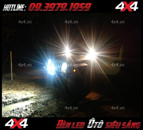 Đèn led tròn và đèn led vuông cực sáng dành cho xe ô tô, xe bán tải ở HCM