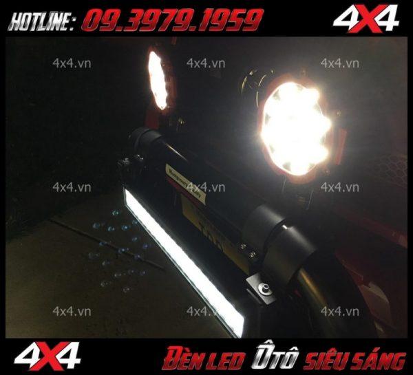 Đèn tròn sáng và đẹp độ cho xe bán tải trại HCM