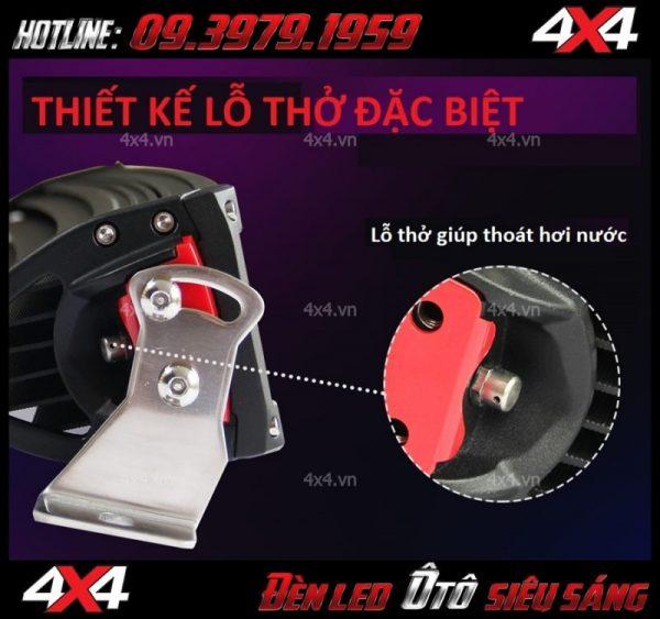 Hình ảnh đèn led bar 8D có lỗ thở giúp thoát hơi nước