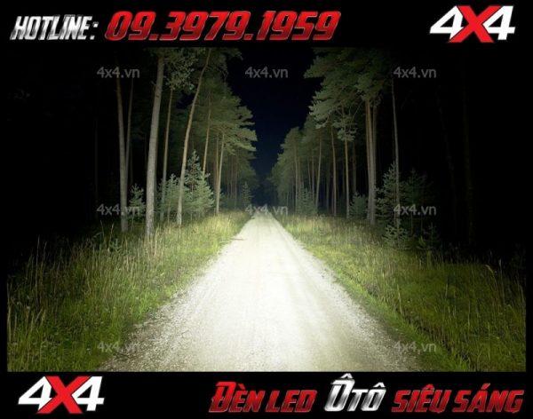 Đèn led bar 12D soi sáng cực tốt vào ban đêm