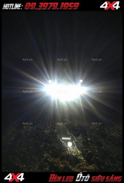 Đèn led tròn và vuông trợ sáng cực tốt cho xe bán tải, xe hơi