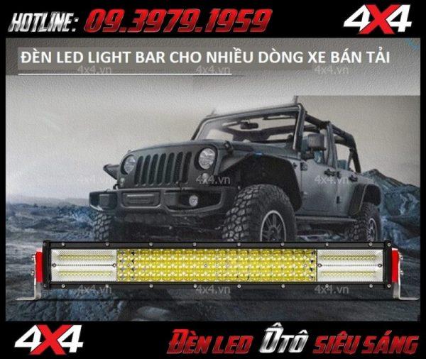 Hình ảnh đèn led bar 12D độ đẹp và chất cho các dòng xe bán tải