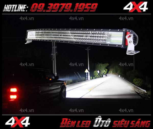 Hình ảnh thực tế, đèn led bar 8D siêu sáng lắp cho xe bán tải, xe ô tô
