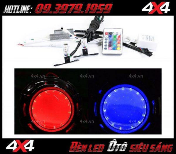 Đèn mắt quỷ màu xanh, đỏ điều chỉnh bằng app điện thoại danh xe ô tô xe bán tải tại HCM