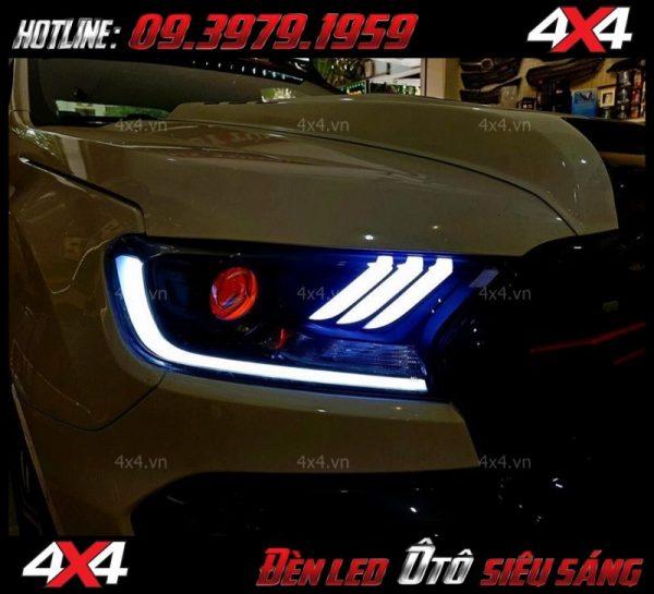 Đèn led mắt quỷ đổi màu, mí led trắng độ đẹp và chất cho xe ô tô xe bán tải ở HCM
