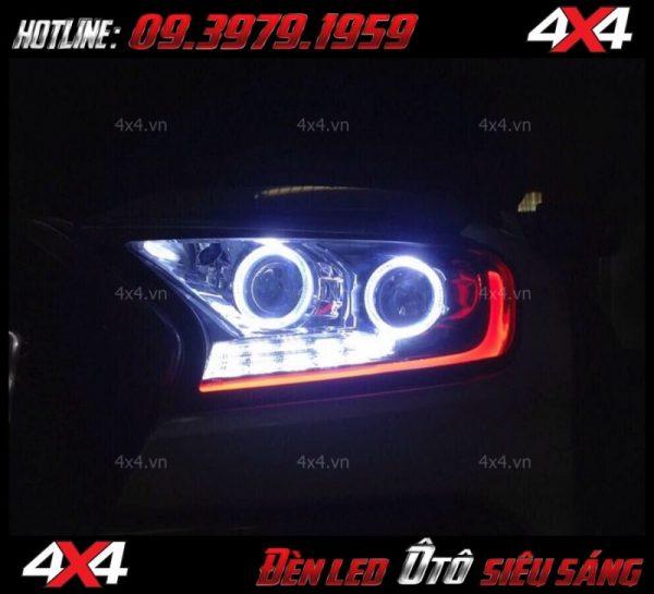 Hình ảnh đèn mí led, đèn bi gương cầu, angel eyes độ đẹp cho xe bán tải, xe ô tô tại HCM