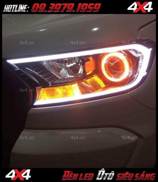 Đèn mắt quỷ, mí led đổi màu bằng app điện thoại cực chất và đẳng cấp độ cho xe ô tô, xe hơi tại HCM