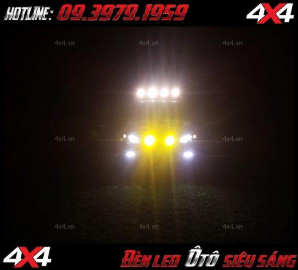 Đèn nóc xe bán tải: Đèn led tròn độ đẹp, hài hòa và trợ sáng cực tốt khi đi đêm