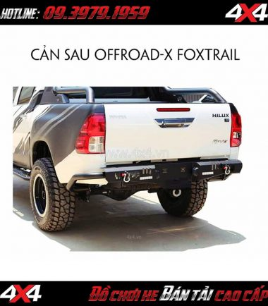 Cản sau KSC Offroad - X Foxtrail cho xe bán tải Toyota Hilux