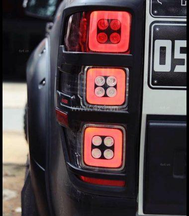 Picture: Cụm đèn đuôi Ford Ranger 2019 2018 mẫu Range Rover 3 ô vuông vô cùng chất