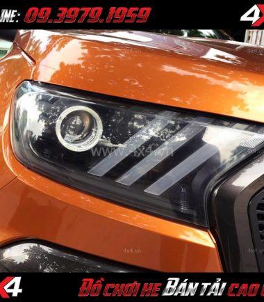 Tấm ảnh: Đèn độ kiểu Mustang 3D sọc thẳng dành cho Ford Ranger 2018 Wildtrak và XLT
