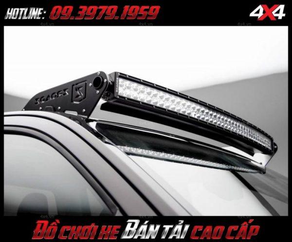 Đèn led bar ô tô, đèn led bar xe bán tải: Đèn led bar Ford Ranger độ đẹp và đẳng cấp gắn mui xe bán tải