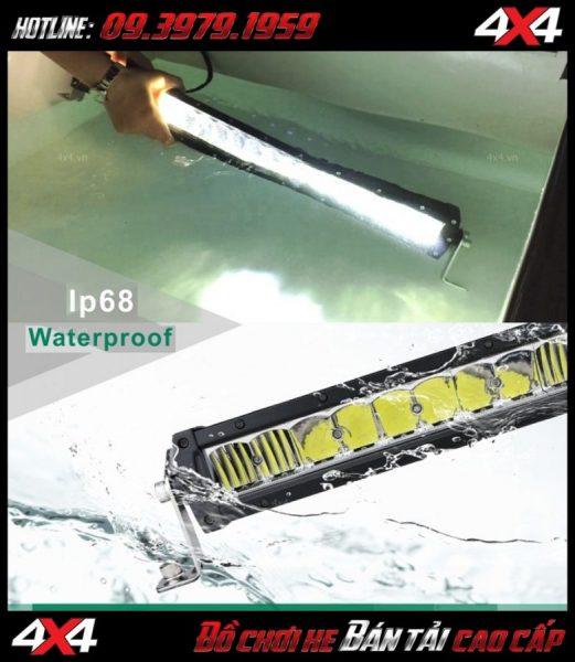 Led bar cho xe offroad: đèn led bar lúp vòm Combo Beam chống nước đạt IP68