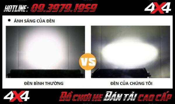 Hình ảnh led bar cho xe offroad: so sánh độ sáng của combo beam và đèn thường