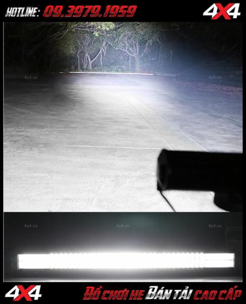 Tấm ảnh đèn led bar cho xe offroad: Đèn led bar 12D tăng sáng cho Ford Ranger cực tốt