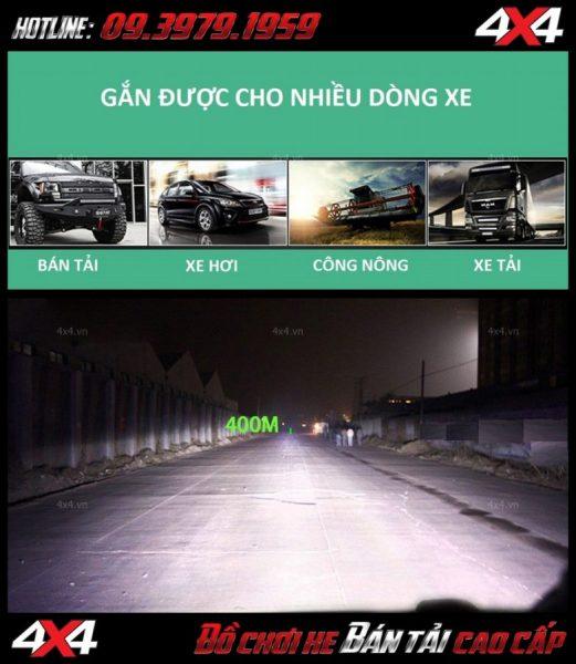 Đèn led bar cho xe offroad: Đèn led bar 8D siêu sáng lắp được cho nhiều dòng xe