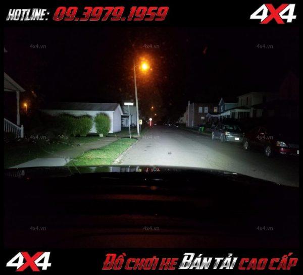 Đèn led bar cho xe offroad: đèn led bar 8D tăng sáng cho Ford Ranger cực tốt