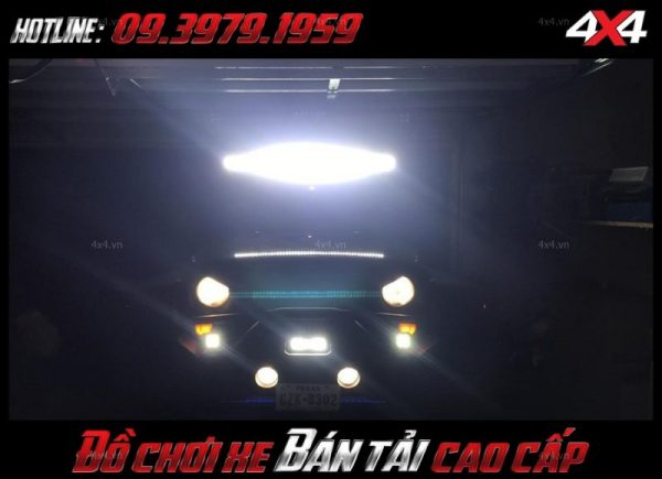 Image led bar <strong>độ đèn Ford Ranger</strong>: thiết kế siêu ngầu của xe bán tải sau khi gắn đèn led light bar