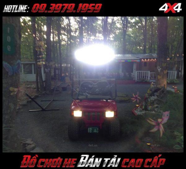 Led bar <strong>độ đèn Ford Ranger</strong>: bán tải và xe bốn bánh gắn đèn led bar để trợ sáng khi đi đường vào ban đêm