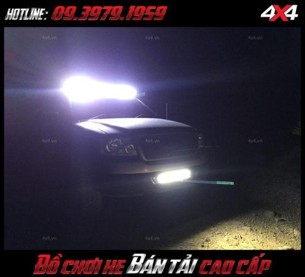 Tấm ảnh led bar <strong>độ đèn Ford Ranger</strong>Led bar <strong>độ đèn Ford Ranger</strong>: Đèn led bar giúp dáng xe thêm hầm hố và đẹp hơn khá nhiều