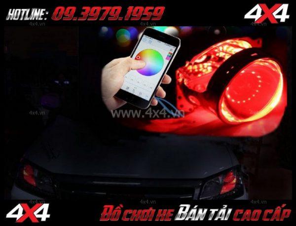 Hình ảnh: Đèn mắt quỷ đổi màu bằng app điện thoại dành cho xe hơi, xe bán tải