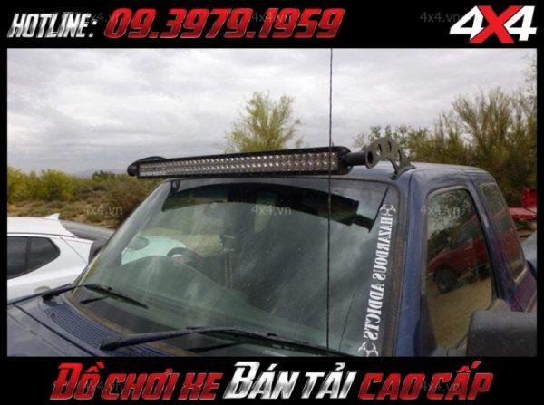 Đèn nóc xe bán tải: Đèn led bar 2 hàng led độ đẹp và chất cho xe ô tô, xe bán tải