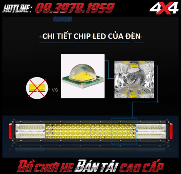 Đèn led bar 12D với các đèn Cree Led siêu xịn siêu bền và sáng