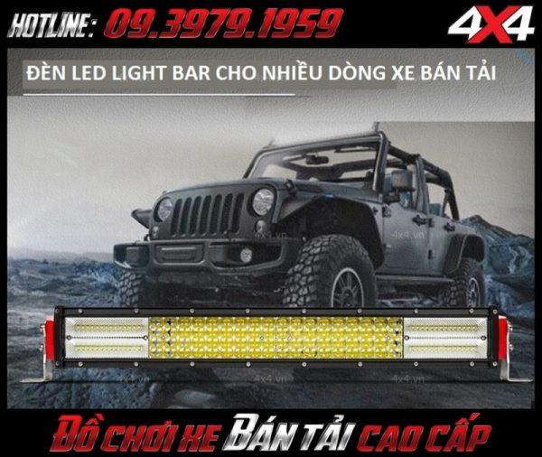 Đèn led bar ô tô, đèn led bar xe bán tải: Đèn led bar 12D chất lượng đẳng cấp và ngầu, trợ sáng cực tốt cho xe ô tô xe bán tải