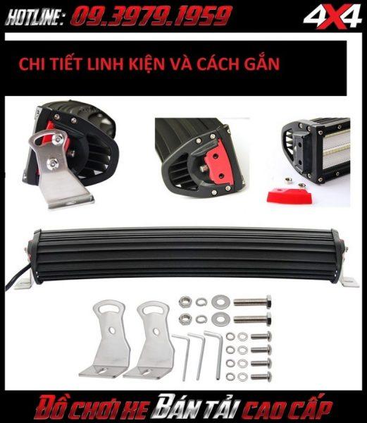 Đèn led bar ô tô, đèn led bar xe bán tải: Đèn led bar 8D với các chi tiết cụ thể