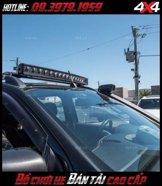 Hình ảnh đèn nóc led bar stedi độ đẹp cho xe bán tải Ford Ranger