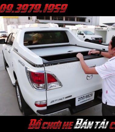 Bức ảnh: Nắp thùng cuộn Carryboy dành gắn cho xe bán tải Mazda BT-50