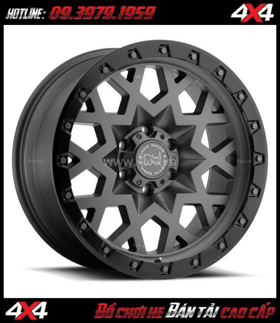 Tấm ảnh bán mâm 18 inch: : Mâm BLACK RHINO SPROCKET 18×9.5 ET-18 cứng cáp giá rẻ cho xe ô tô, xe bán tải