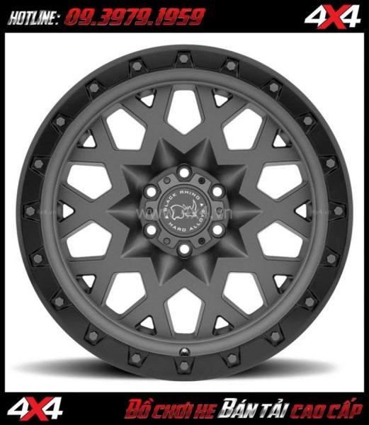 Image bán mâm 18 inch: : Mâm BLACK RHINO SPROCKET 18×9.5 ET-18 mạnh mẽ giá rẻ cho xe bốn bánh, xe off-road