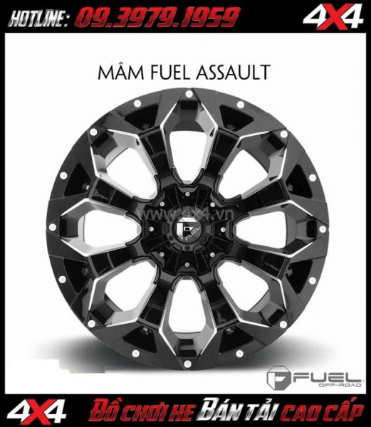 Picture Bán mâm 18 Inch: Mâm Fuel One Piece Assault - D546 cho xe pick-up và SUV