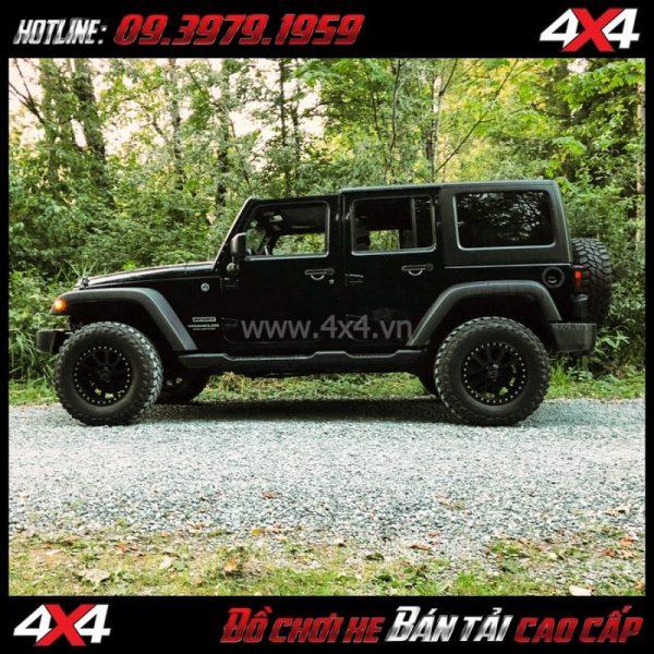 Picture: Mâm Lazang oto 17 inch Blackrhino Mint Matte Đen, Xám độ xe bán tải, xe bốn bánh